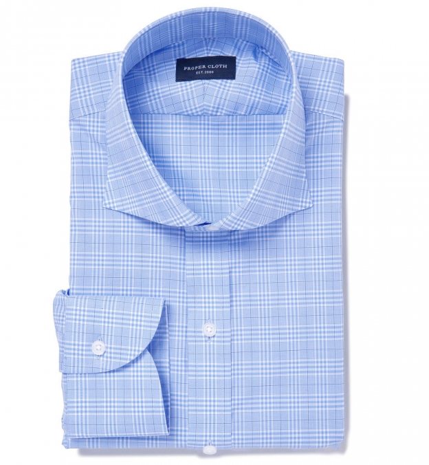 Alden 120s Blue Prince of Wales Check