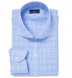 Alden 120s Blue Prince of Wales Check Shirt Thumbnail 1
