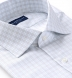 Carmine 120s Grey and Blue Small Check Shirt Thumbnail 2