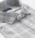 Reda Light Grey Melange Plaid Merino Wool Shirt Thumbnail 2