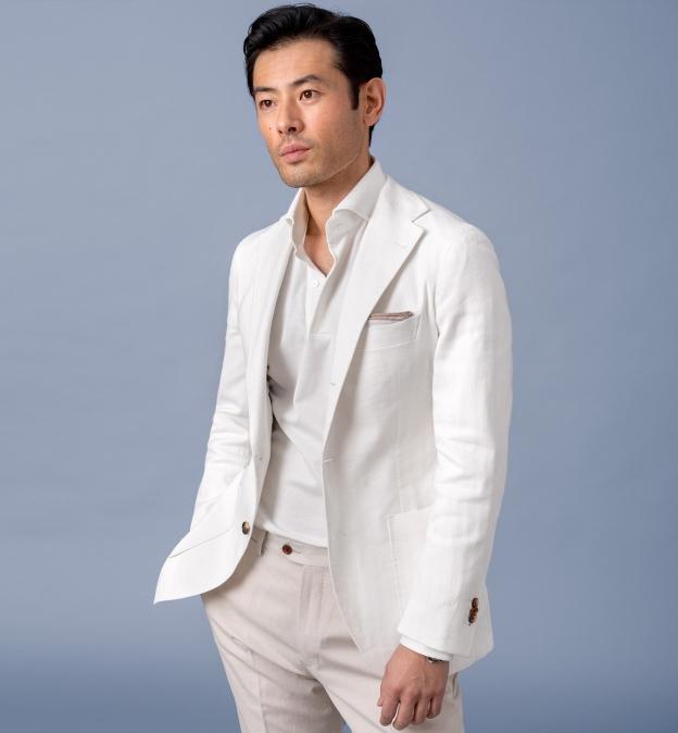 Japanese White Performance Polo