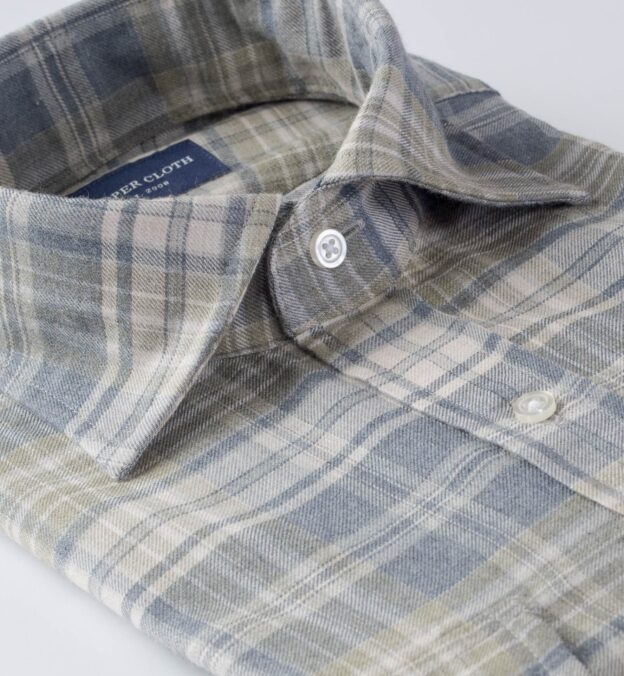 Satoyama Slate and Sage Plaid Flannel