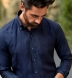 Grandi and Rubinelli Washed Navy Linen Shirt Thumbnail 3