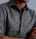 Wythe Grey Melange Houndstooth Flannel Shirt Thumbnail 4