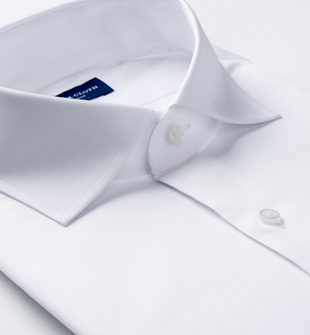 Non-Iron Supima White Twill