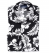 Japanese Black and White Aloha Floral Shirt Thumbnail 1