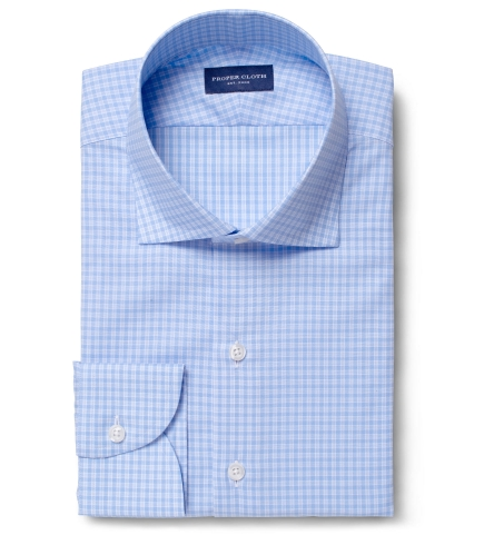 796d58faf Chambers Blue Check Tailor Made Shirt by Proper Cloth