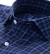 Vincent Blue and White Plaid Shirt Thumbnail 2