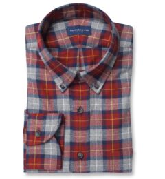 Red and Grey Tartan Flannel Image