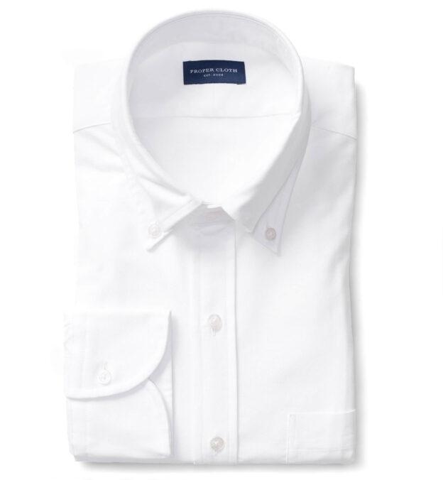 White Heavy Oxford Soft Ivy Button Down