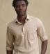 Beige Cotton and Linen Melange Knit Shirt Thumbnail 3