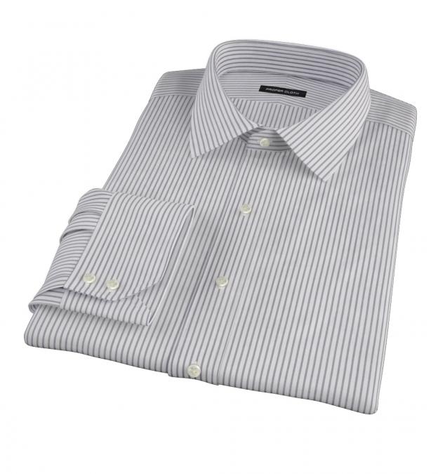 Canclini Black Stripe Fitted Dress Shirt