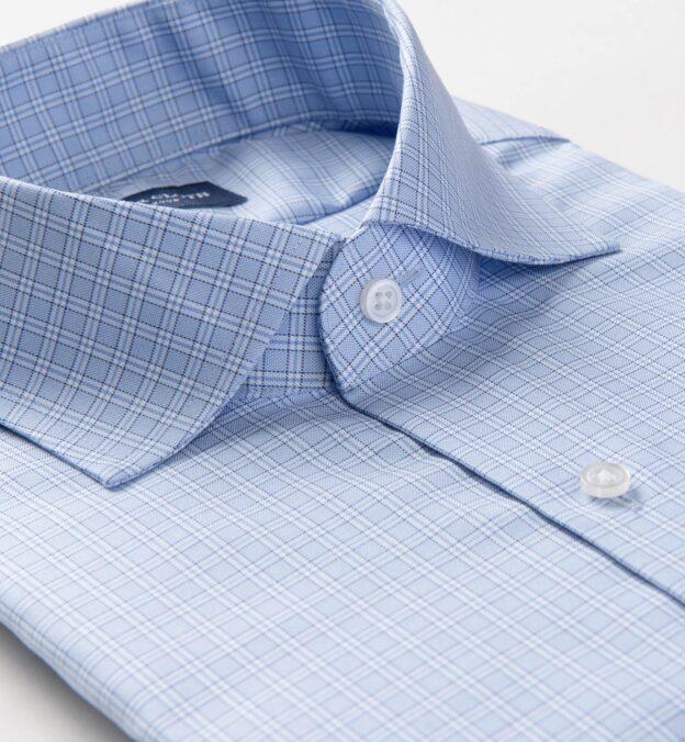 Mayfair Wrinkle-Resistant Light Blue Small Check