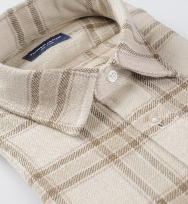 Japanese Washed Beige Country Plaid
