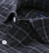 Albiate Grey Melange Plaid Flannel Shirt Thumbnail 2