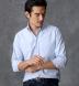 Japanese Light Blue Nep Yarn Oxford Shirt Thumbnail 3