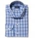 Siena Ocean Blue Multi Check Shirt Thumbnail 1