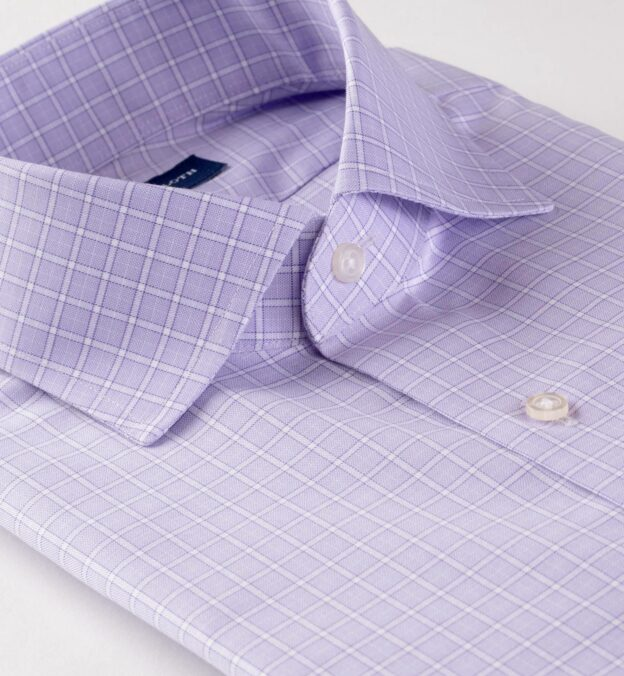 Non-Iron Stretch Lavender Grid