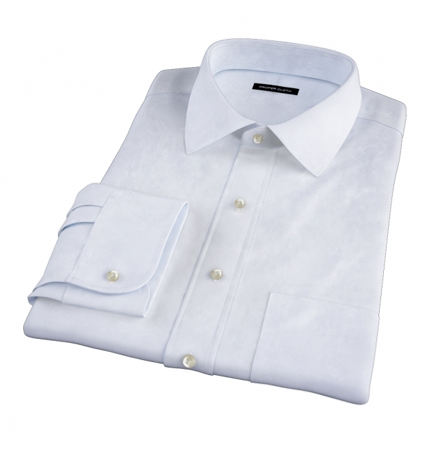 Canclini Light Blue Fine Stripe Tailor Made Shirt