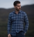 Whistler Blue and Grey Large Plaid Flannel Shirt Thumbnail 3