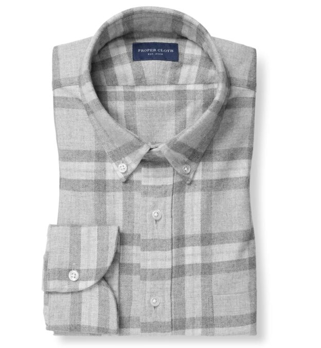 Teton Grey Tonal Plaid Flannel