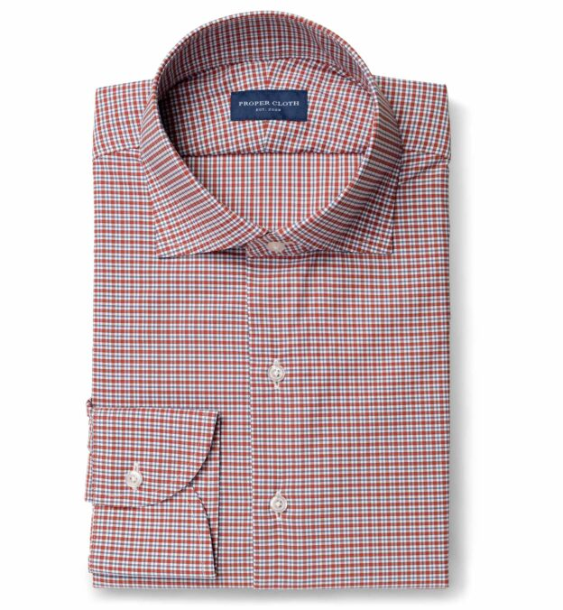 Performance Scarlet and Navy Small Check