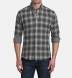 Grey Tonal Melange Ombre Plaid Double Cloth Shirt Thumbnail 3