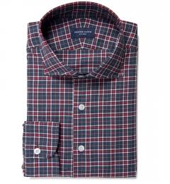 Sullivan Red and Grey Melange Check Tailor Made Shirt