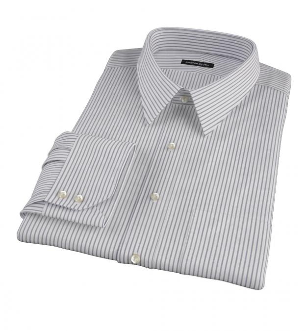 Canclini Black Stripe Custom Dress Shirt