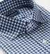 Non-Iron Supima Navy Blue Gingham Shirt Thumbnail 2