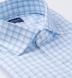 Lucca Blue and Light Grey Shadow Check Shirt Thumbnail 2