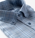Portuguese Washed Slate and Light Blue Plaid Linen Shirt Thumbnail 2