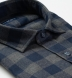 Canclini Grey and Navy Gingham Beacon Flannel Shirt Thumbnail 2