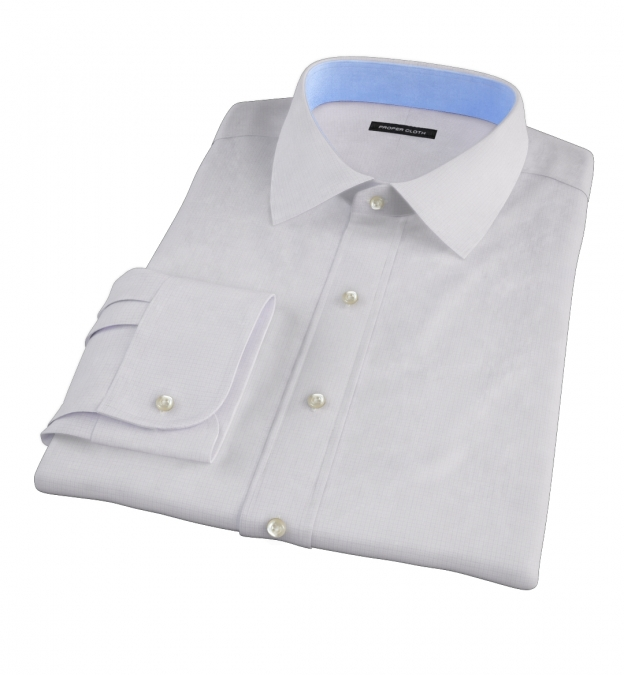 Lavender Micro Grid Custom Dress Shirt