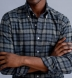 Canclini Slate and Grey Plaid Beacon Flannel Shirt Thumbnail 3