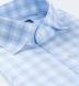 Non-Iron Stretch Light Blue Tonal Check Shirt Thumbnail 2