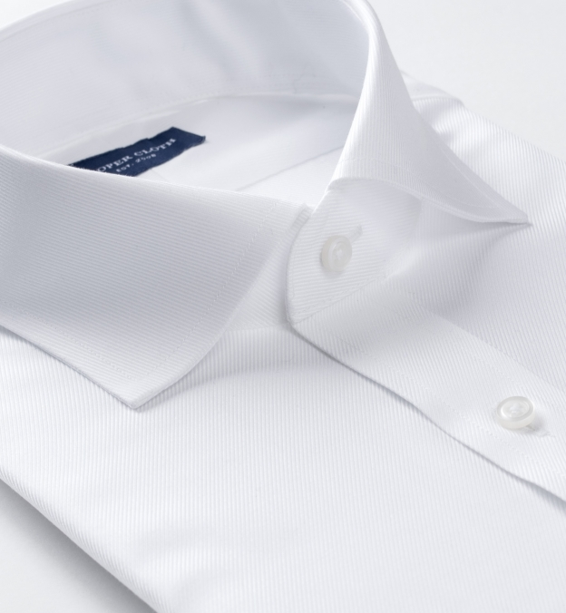Sutton Wrinkle-Resistant White Imperial Twill French Cuff