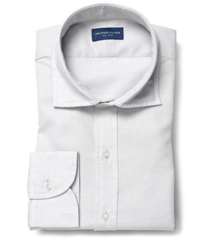 Portuguese Light Grey Cotton Linen Oxford