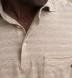 Beige Cotton and Linen Melange Knit Shirt Thumbnail 4