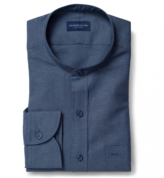 Portuguese Slate Cotton Linen Oxford
