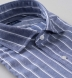 Thomas Mason Washed Slate Vintage Stripe Cotton Linen Oxford Shirt Thumbnail 2