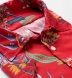 Albini Red Aloha Print Tencel Shirt Thumbnail 2