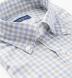 Reda Light Blue and Grey Gingham Merino Wool Shirt Thumbnail 2