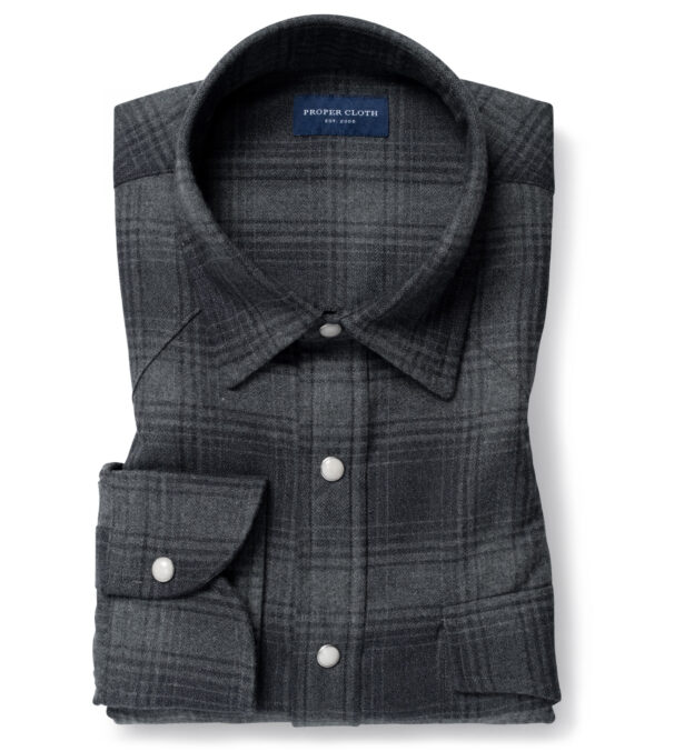 Canclini Charcoal Ombre Plaid Beacon Flannel