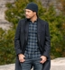 Canclini Grey and Navy Gingham Beacon Flannel Shirt Thumbnail 3