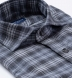 Satoyama Light Grey and Slate Plaid Flannel Shirt Thumbnail 2