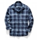 Japanese Washed Blue and White Country Plaid Shirt Thumbnail 3