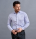 Non-Iron Supima Lavender and Blue Multi Gingham Shirt Thumbnail 4