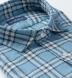 Blue Vintage Plaid Cotton Linen Blend Shirt Thumbnail 2