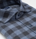 Stowe Slate and Charcoal Melange Gingham Flannel Shirt Thumbnail 2